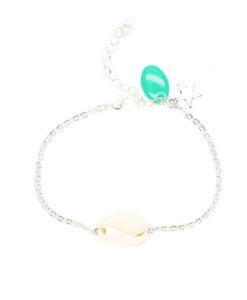 Idée cadeau- bracelet coquillage argent