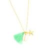 collier étoile de mer coquillage pompon