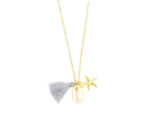 collier étoile de mer et coquillage 2018