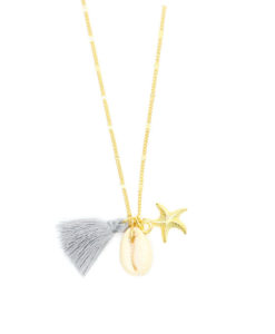 collier étoile de mer et coquillage 2017