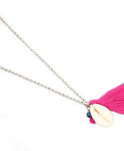 Collier coquillage pompon tendance été 2017