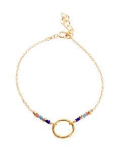 Bracelet cercle perles multicolore