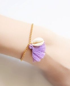 Bracelet coquillage pompon 2018