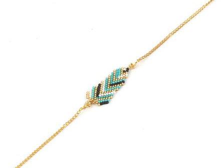 Bracelet perles Miyuki Noir et vert