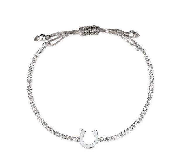 Bracelet porte bonheur cordon argent chic bijoux fantaisie - Porte bonheur argent richesse ...