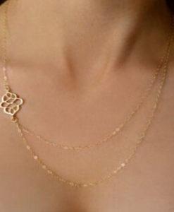 Cadeaux Femme- Collier multi-rangs argent