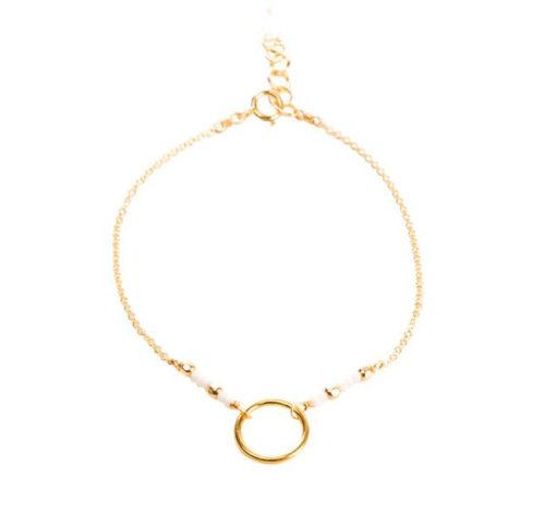 Idée cadeau femme-Bracelet cercle perles