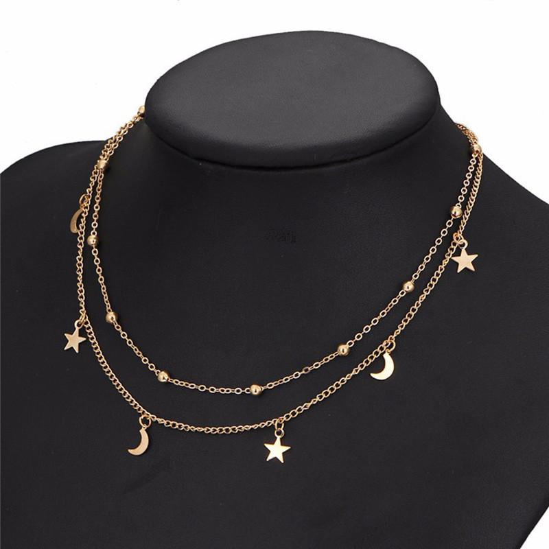 id e cadeau femme collier lune toile bijoux fantaisie. Black Bedroom Furniture Sets. Home Design Ideas