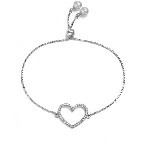 Bracelet Swarovski coeur argent
