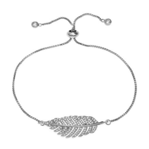 Bracelet plume Swarovski