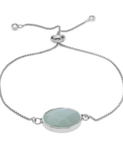 Bracelet pierre turquoise argent