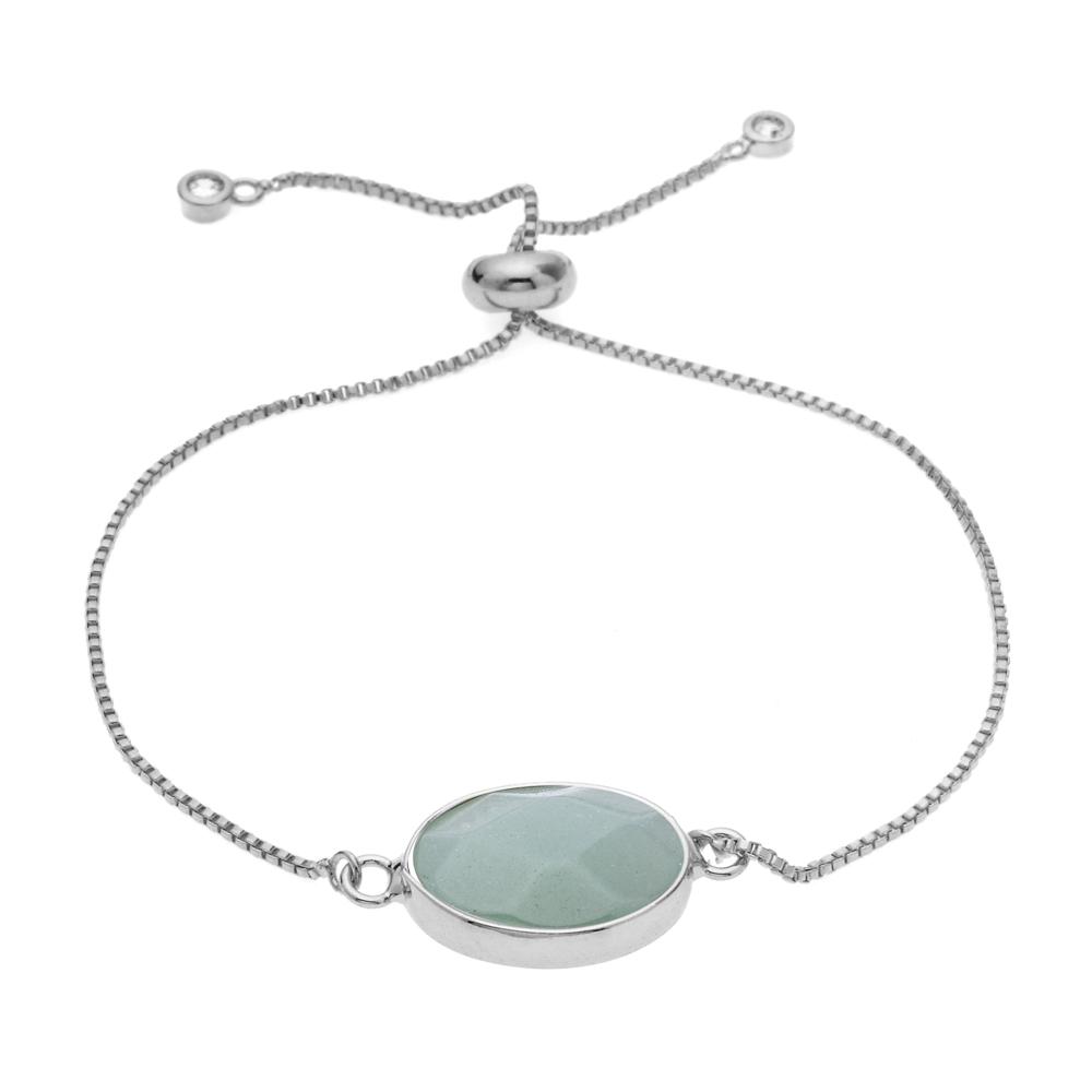 bracelet argent pierre femme