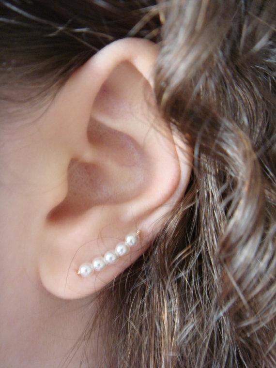 Boucle d'oreille perle fantaisie
