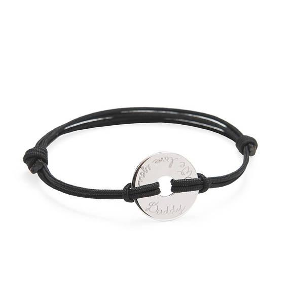 Bracelet cuir prenom gravé