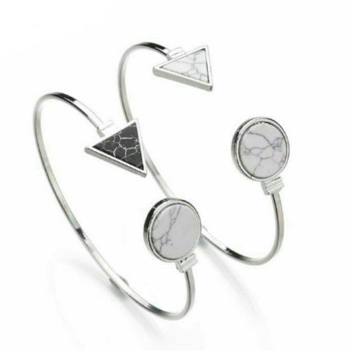 Bracelet fantaisie tendance - marbre