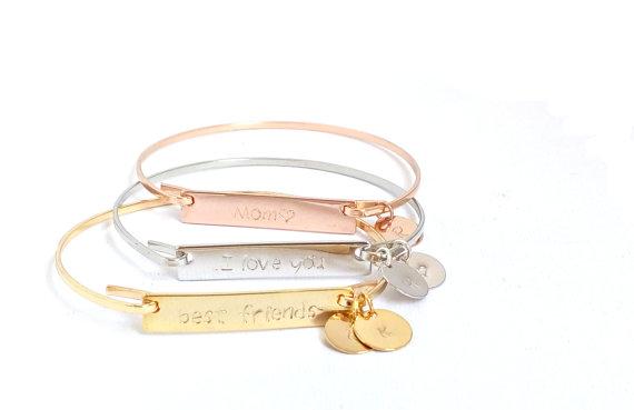 Bracelet femme gravure