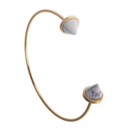 Bracelet marbre or