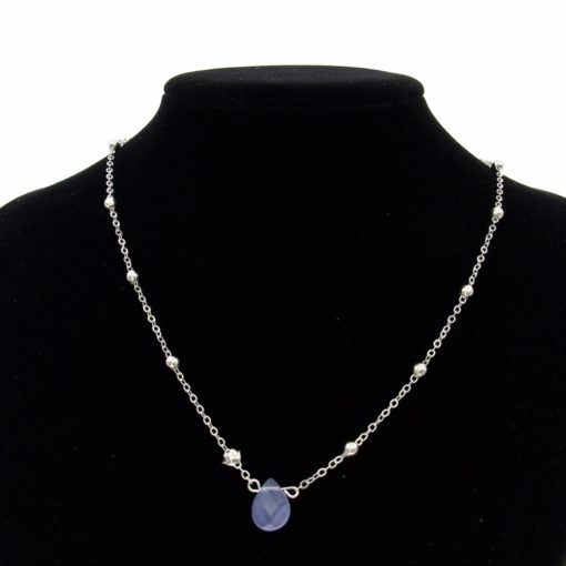 Collier pierre bleu