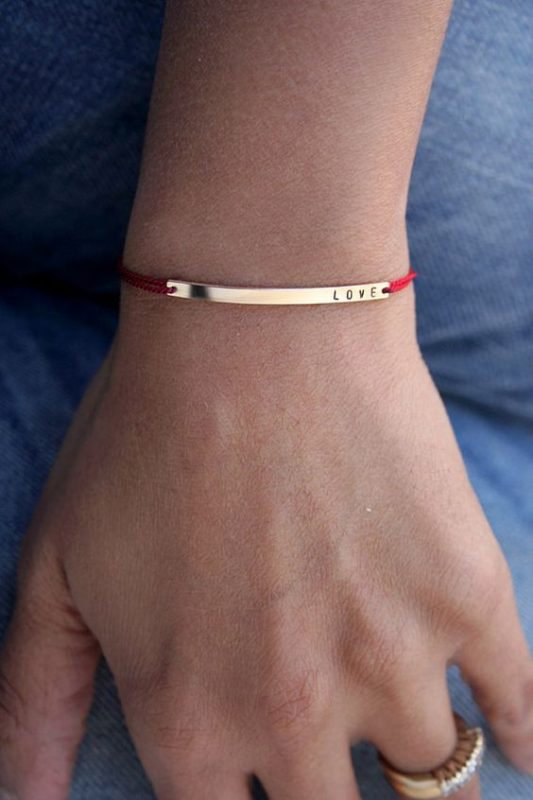bracelet cordon a graver