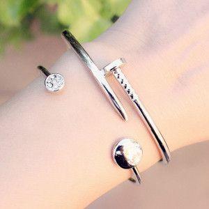 bracelet jonc argent avec strass