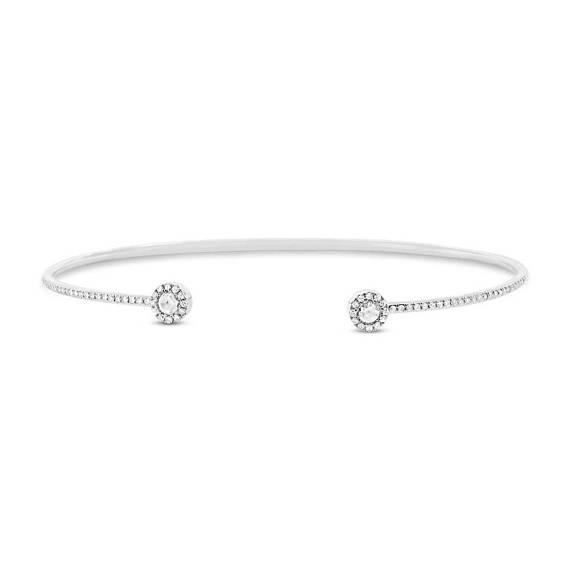 bracelet jonc or blanc