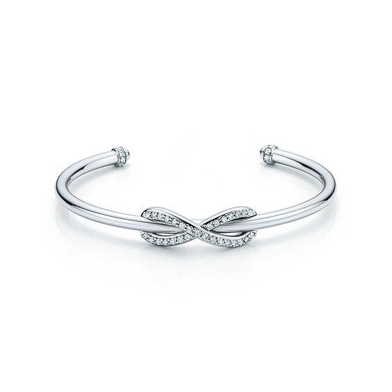 bracelet jonc or blanc et diamant