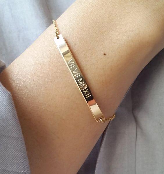 bracelet medaille a graver