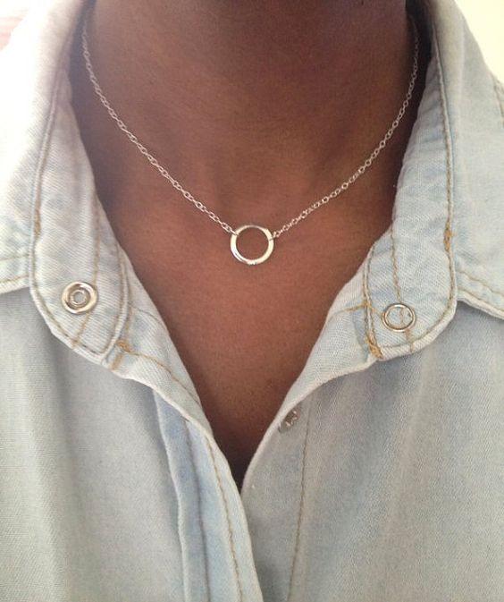 collier cercle argent