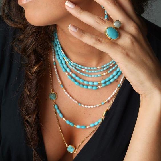 sautoir perles fantaisie