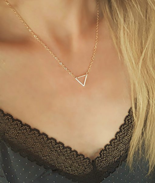Colliers tendance 2018 -Collier triangle (2)