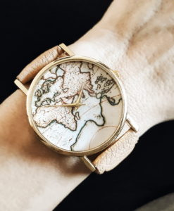 Montre tendance 2018 -carte du monde