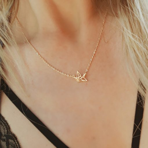 collier minimaliste or