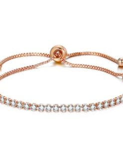 Bracelet strass swarovski or rose
