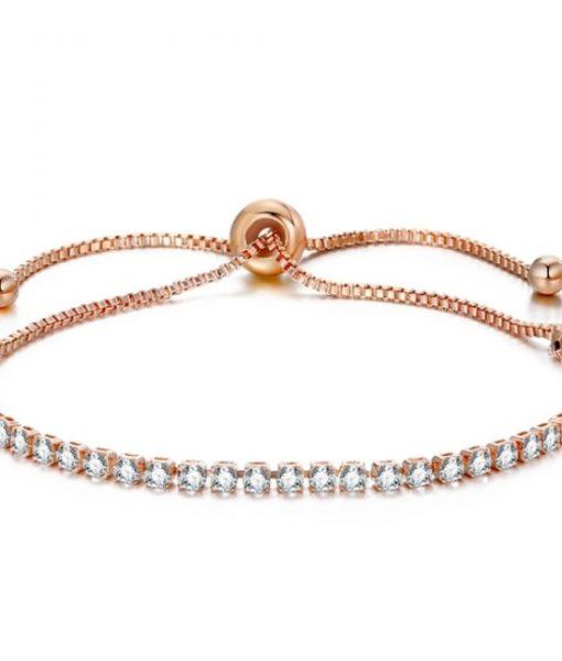 Bracelet strass swarovski or rose