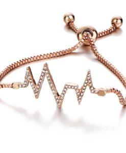 Cadeau femme -Bracelet swarovski or rose