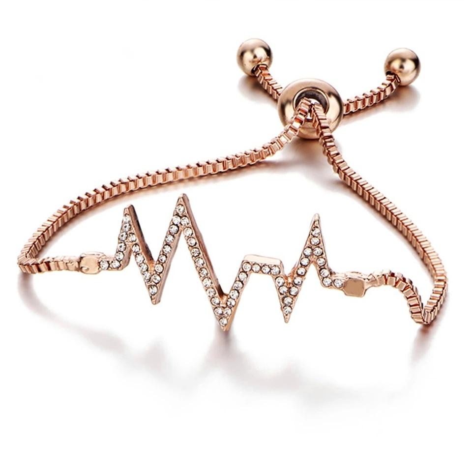 cadeau femme bracelet swarovski or rose bijoux fantaisie. Black Bedroom Furniture Sets. Home Design Ideas