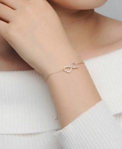 Idee cadeau femme -bracelet strass argent