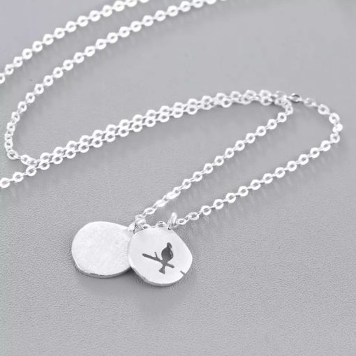 Collier medaille argent