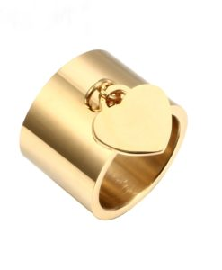 Bague pampille dore