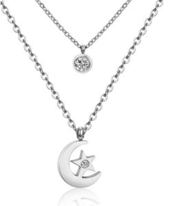 Collier multirang lune