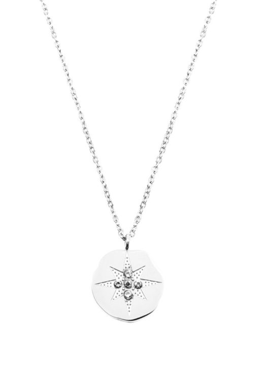 Collier medaille etoile argent