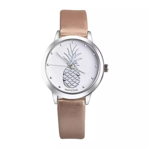Montre simili cuir ananas