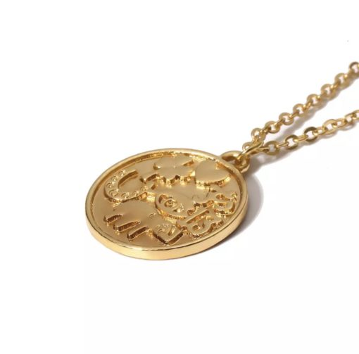 collier medaille femme
