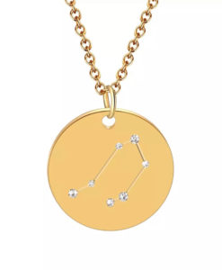 Collier constellation signe astrologique balance