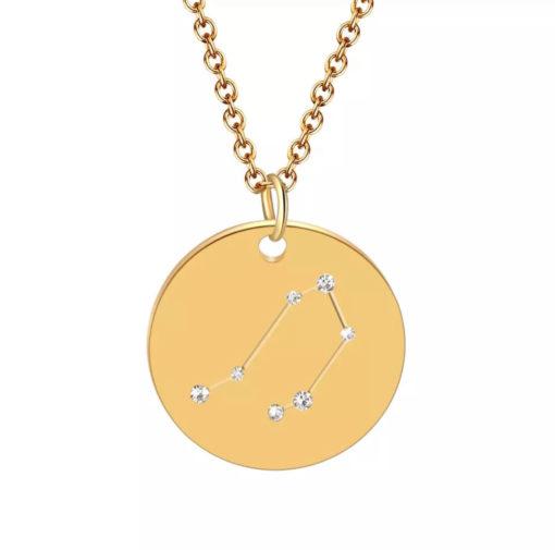 Collier constellation signe astrologique balance