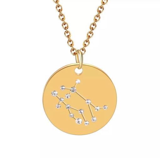 Collier constellation signe astrologique gemeaux