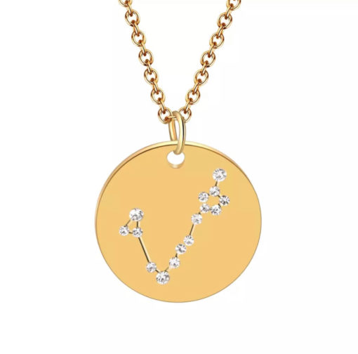 Collier constellation signe astrologique poissons