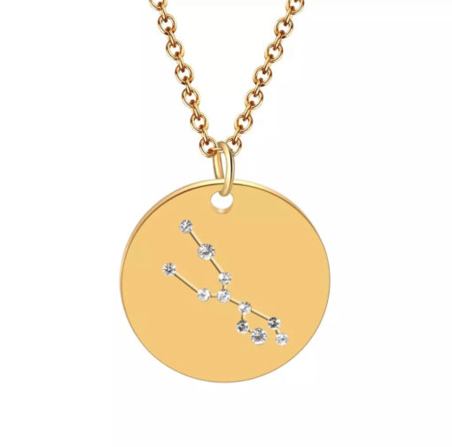 Collier constellation signe astrologique taureau