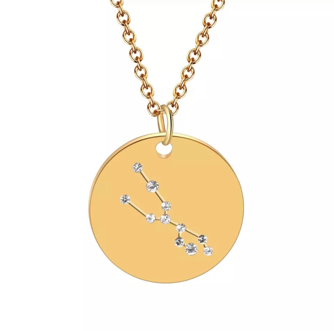 prix bas Braderie prix raisonnable Collier constellation signe astrologique taureau