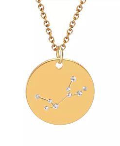 Collier constellation signe astrologique vierge